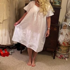 Vintage pale blue cotton nightgown